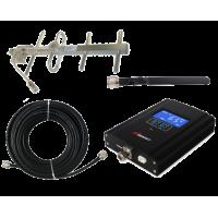 Zestaw (Wersja D) Repeater HI17-EGSM z antena zewnętrzną YAGI 8,5dB i wewnętrzną WHIP