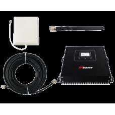 Zestaw (Wersja A) Repeater HI20-EDW z anteną zewnętrzną panelową i wewnętrzną WHIP