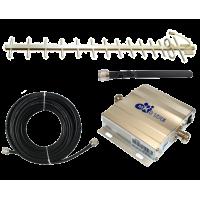Zestaw (Wersja D) Repeater ZRD10E-GSM z antena zewnętrzną Yagi 14dBi