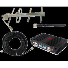 Zestaw (Wersja A) Repeater ZRD10-EGSM z antena zewnętrzną YAGI i wewnętrzną WHIP