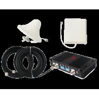 Zestaw (Wersja B) Repeater ZRD10-EW z antena zewnętrzną panelową i wewnętrzną sufitową