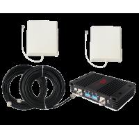Zestaw (Wersja C) Repeater ZRD10-EW z antena zewnętrzną panelową i wewnętrzną panelową