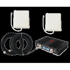Zestaw (Wersja C) Repeater ZRD15-ED z antena zewnętrzną panelową i wewnętrzną panelową
