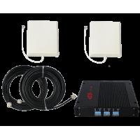 Zestaw (Wersja C) Repeater ZRD15-EDW z antena zewnętrzną panelową i wewnętrzną panelową