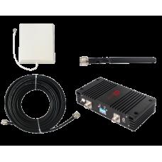 Zestaw (Wersja B) Repeater ZRD10-EGSM z antena zewnętrzną panelową i wewnętrzną WHIP