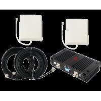 Zestaw (Wersja C) Repeater ZRD15-W z antena zewnętrzną panelową i wewnętrzną panelową