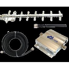 Zestaw (Wersja C) Repeater ZRD10E-GSM z antena zewnętrzną Yagi 11dBi