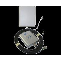 Zestaw (Wersja A) Repeater ZRD10I-GSM z antena zewnętrzną panelową i wewnętrzną WHIP
