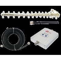 Zestaw (Wersja D) Repeater ZRD10I-GSM z antena zewnętrzną Yagi 16.5dB