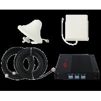 Zestaw (Wersja B) Repeater ZRD10-EDW z antena zewnętrzną panelową i wewnętrzną sufitową