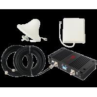 Zestaw (Wersja B) Repeater ZRD10-W z antena zewnętrzną panelową i wewnętrzną sufitową