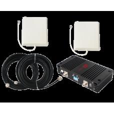 Zestaw (Wersja D) Repeater ZRD15-EGSM z antena zewnętrzną panelową i wewnętrzną panelową
